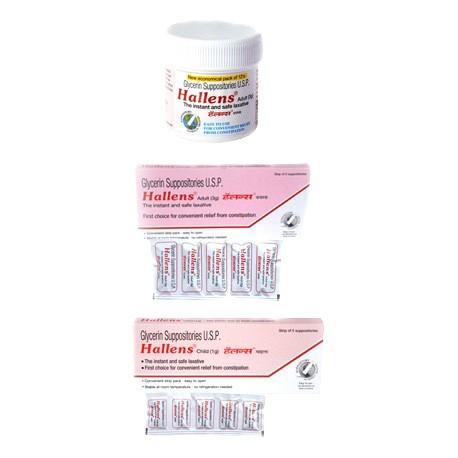 Hallens Glycerin Suppository - Meridian Enterprises Pvt Ltd.