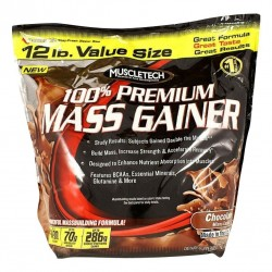 Muscletech 100% Mass Gainer (Chocolate) - 12 LBS (5.4 Kg)