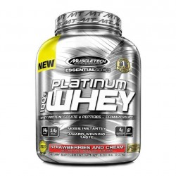 Essential Platinum 100% Whey, 5 lb Strawberries and Cream - MuscleTech