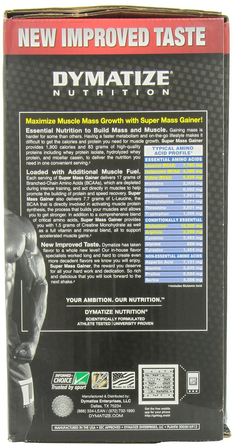 Dymatize Super Mass Gainer 6 Lbsrich Chocolate 2 Lbs