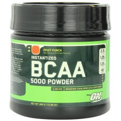 Optimum Nutrition Instantized BCAA 5000 mg Powder - 380 g (Fruit Punch)