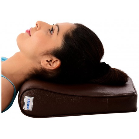 Vissco Cervical Pillow Regular Rexine Cover - Universal - 0306