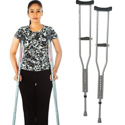 Vissco Invalid Under Arm Auxiliary Crutches-0905