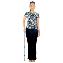 "Vissco Invalid Walking Stick ""L"" Shape-0911"