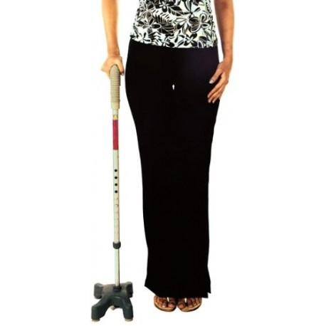 Vissco Invalid L-Shape Quadripod Walking Stick-0909