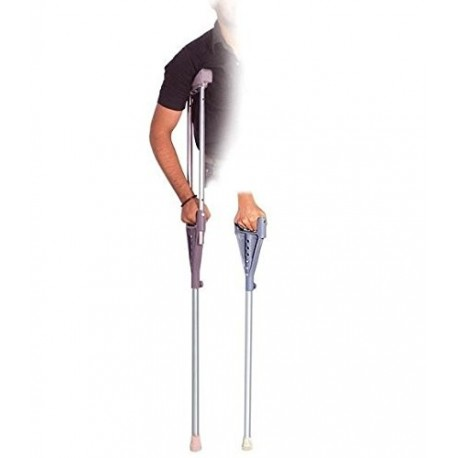 Vissco Two in One Under Arm Crutches and Walking Stick-0988