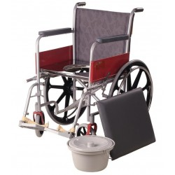 Invalid Wheelchair Regular with Commode / Mag Wheel - Vissco