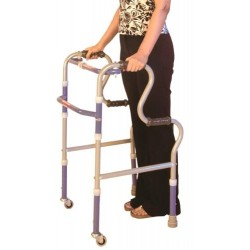 Invalid Step Adjustment Folding Walker Castors - Vissco