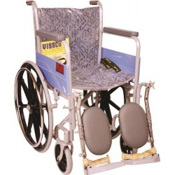 Vissco Invalid Elevated Foot Rest Wheel Chair with Mag Wheels - Universal