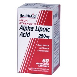 HealthAid Mega Strength Alpha Lipoic Acid 250mg - 60 Capsules