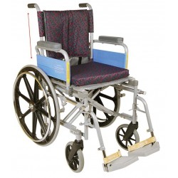 Vissco Invalid Wheelchair Deluxe with High Back Rest and Mag Wheels - 0970