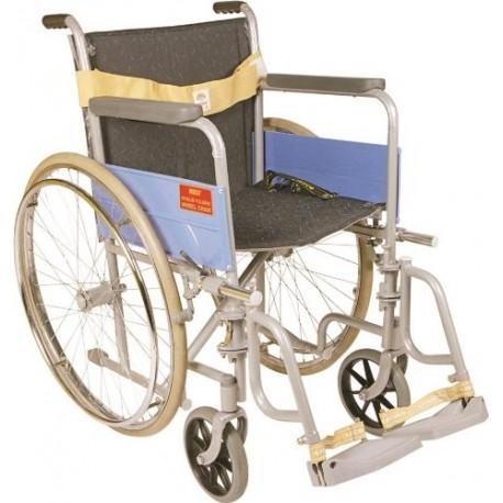 Vissco Invalid Folding Wheel Chair with Spoke Wheels - Universal (Regular) - 0971