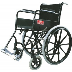 Black Magic Wheel Chair with Mag Wheels - Vissco