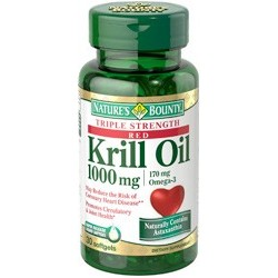 Red Krill Oil Triple Strength 1000mg - 30 softgels - Nature's Bounty