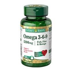 Fish, Flax, Borage 1200mg Omega 3,6,9 - 60 Softgels -  Nature's Bounty