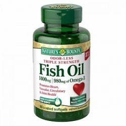 Odor - Less Triple Strength Fish Oil 1400 mg - 980 mg of Omega 3 - 30 Softgels