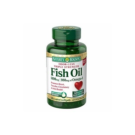 Odor less triple strength fish oil 1400 mg 980 mg of for Fish oil 1400 mg
