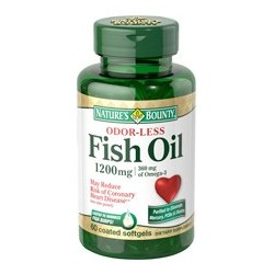 Odorless Fish Oil 1200 mg 60 softgels -  Nature's Bounty