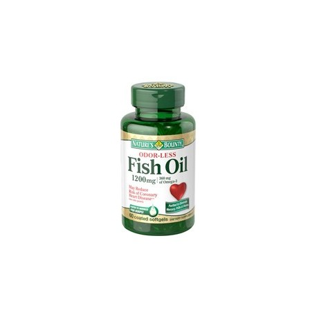 Odorless Fish Oil 1200 mg 60 softgels