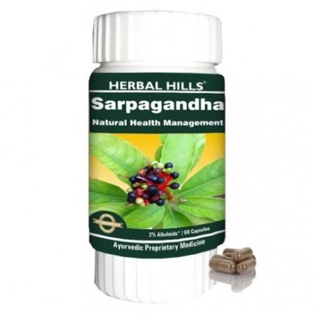 Herbal Hills Sarpagandha, 60 capsules