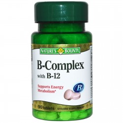 B-Complex Plus B-12 90 Tablets - Nature's Bounty