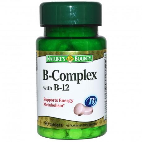 B-Complex Plus B-12 90 Tablets