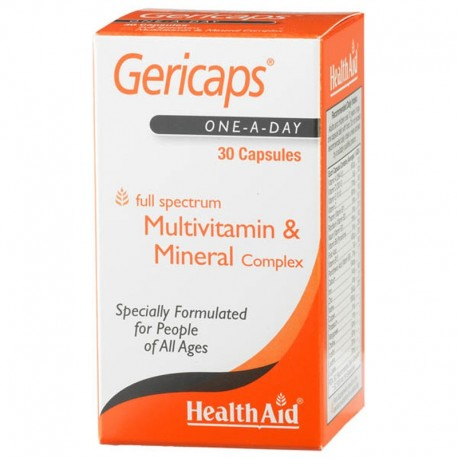 Gericaps Active (with Ginseng and Ginkgo Biloba)30 Capsules
