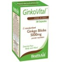 GinkoVital (Ginkgo Biloba) 5000mg 30 Capsules - HealthAid