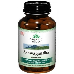 Ashwagandha, 60 Capsules Bottle - Organic India