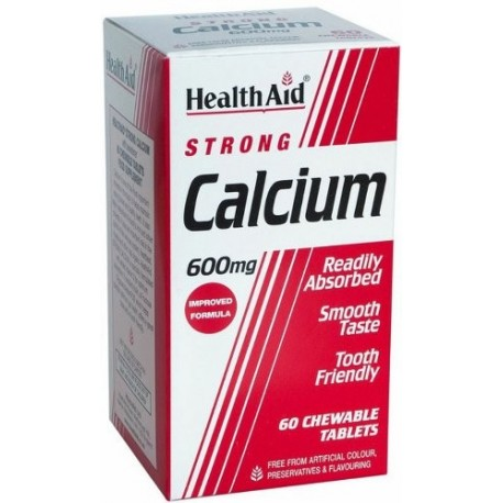 Strong Calcium 600mg 60 Chewable Tablets