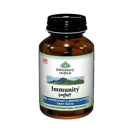 Organic India Immunity 60 Capsules Bottle