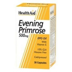 Evening Primrose Oil 500mg with Vitamin E 30 Capsules