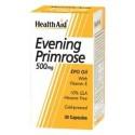 Evening Primrose Oil, 500mg with Vitamin-E, 30 Capsules - HealthAid