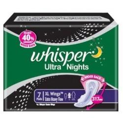 Whisper Ultra Nights - XL Wings (7 Pads) - P&G