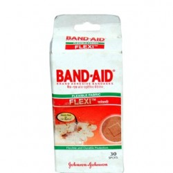 Flexible Fabric Band aid Square 30 Spots - Johnson & Johnson